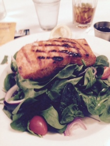 My Celtic Knot salmon salad.