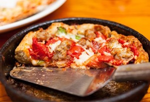 Deep dish pizza--those were the days my friend, we thought they'd never end.