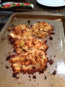My panko-crusted cod.