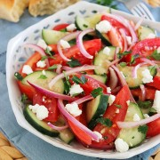 A fun salad for July 4th, or any meal where you want fresh ingredients.