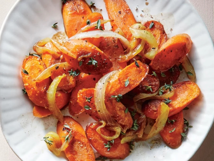 balsamic carrots and onions