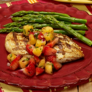 grilled-chick-with-strawberry-and-pineapple-salsa
