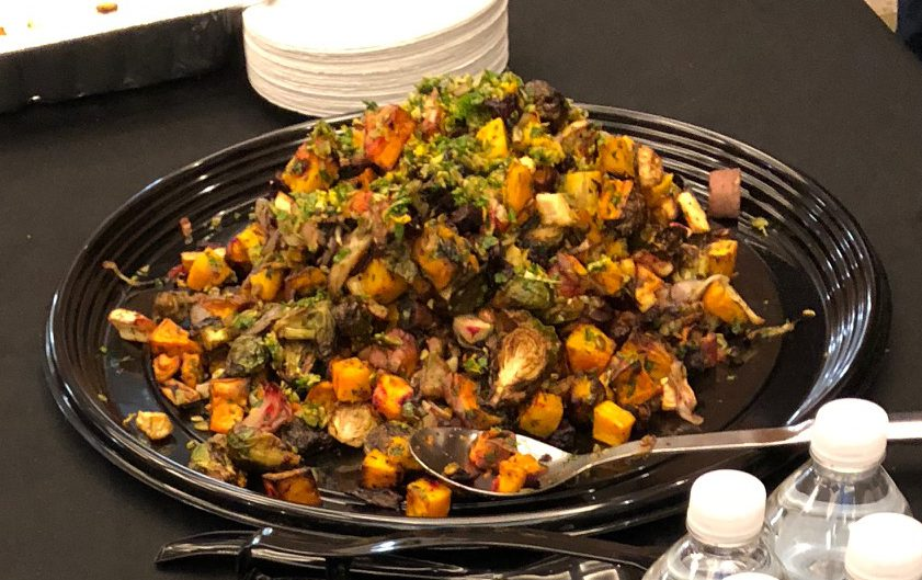 A Salt-Free Thanksgiving Side — Roasted Vegetables with Pumpkin Seed Gremolata